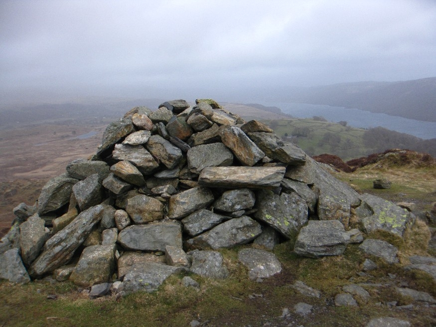 Cairn and view (or lack of)