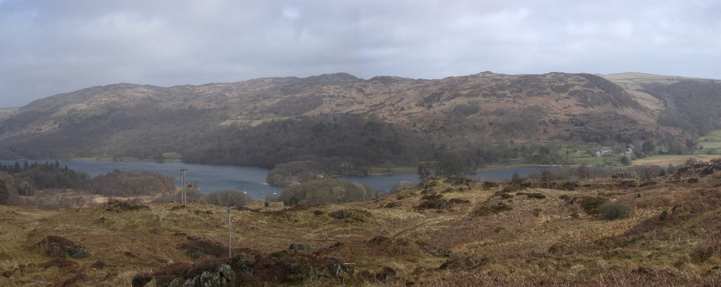 Panorama of our recent fell walks on the eastern side of Coniston