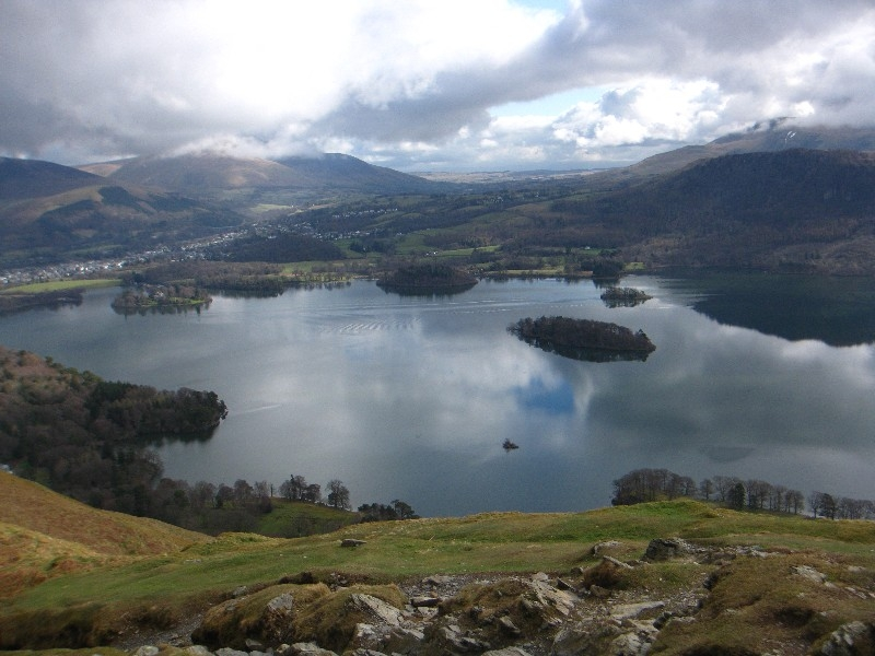Looking across Derwent Water from the route up Catbells