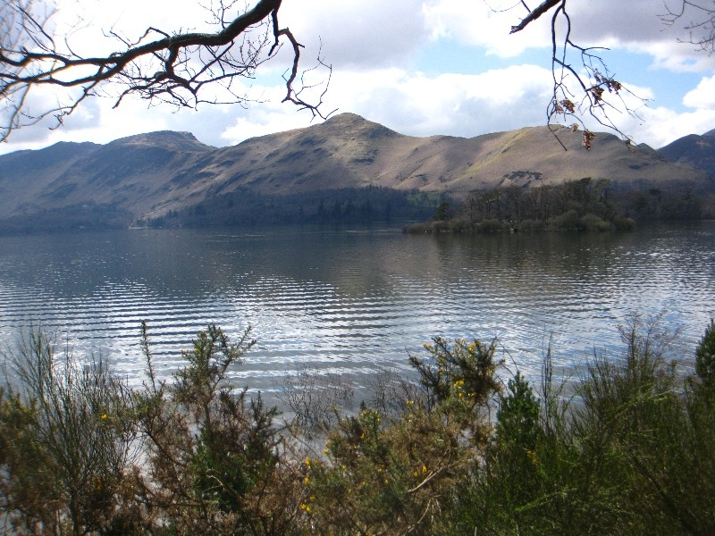 Looking back over to Catbells