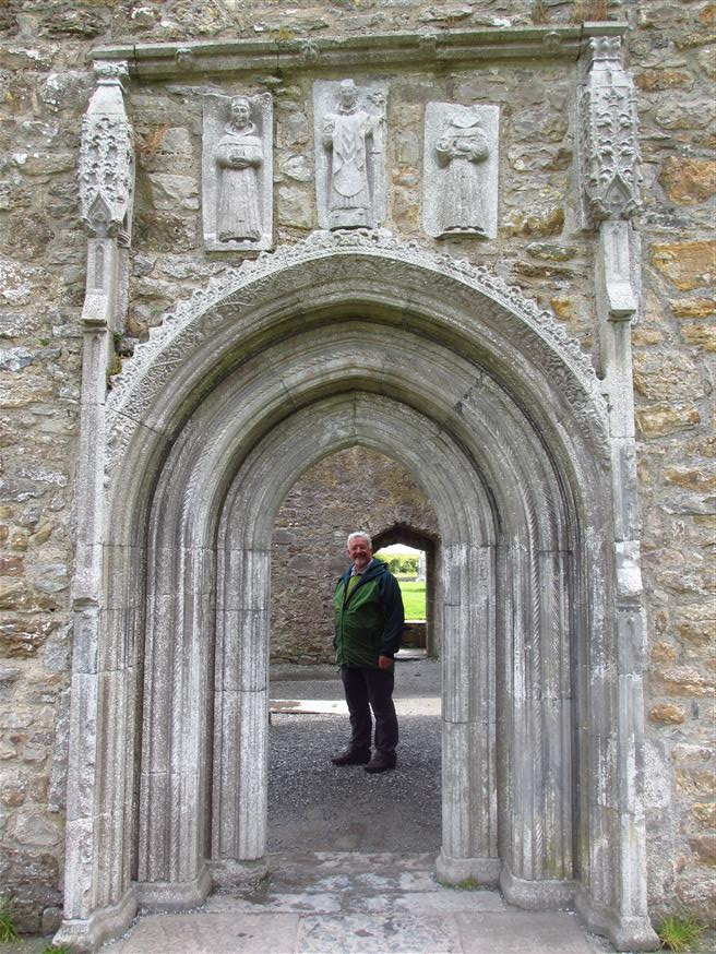 The Whispering Door to the cathedral. Above the door are carvings of saints Francis Patrick and Dominic. The acoustics of the doorway are such that even a ... & Clonmacnoise Monastery County Offaly. u2022 Walking the Cumbrian Mountains