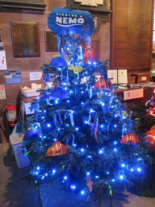 the deep blue of finding nemo by newton school raising money for puzzles playgroup - Finding Nemo Christmas Decorations