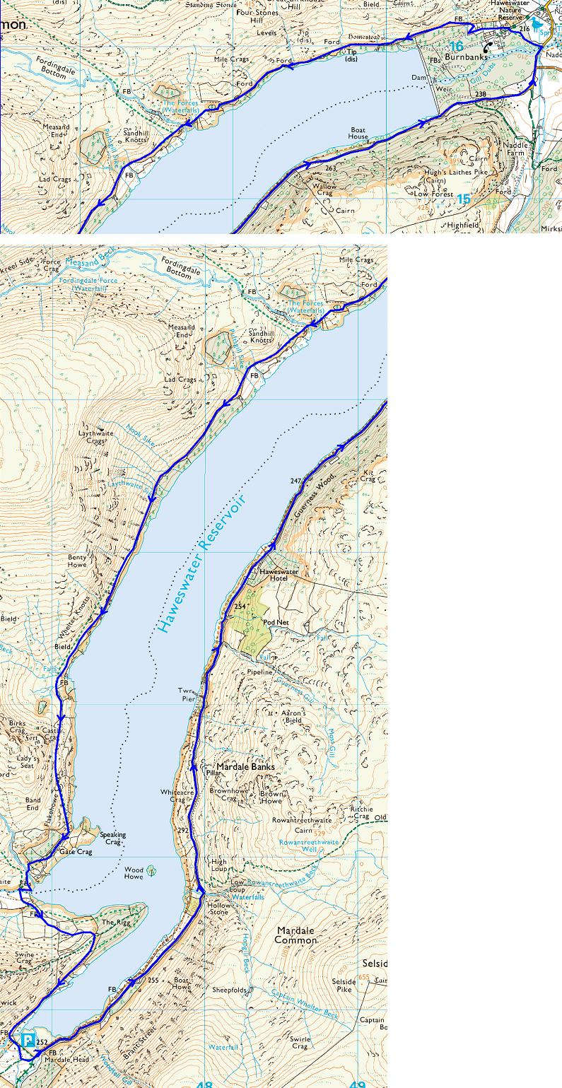 Map of Circuit of Haweswater, 2013