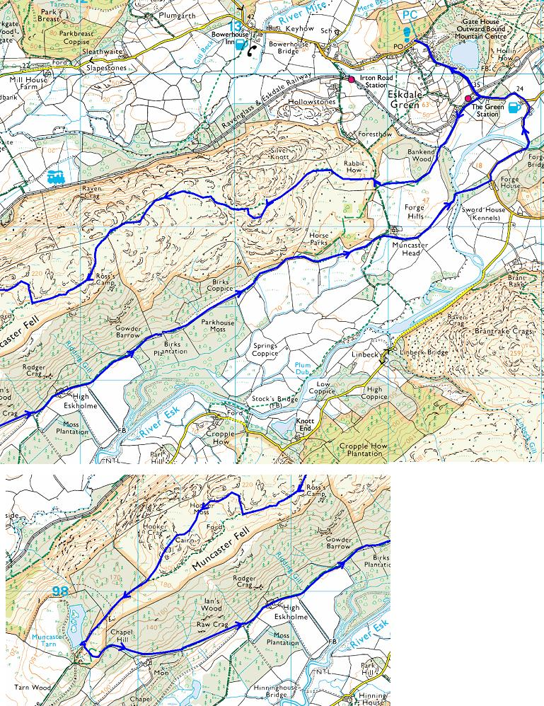 map of muncaster fell