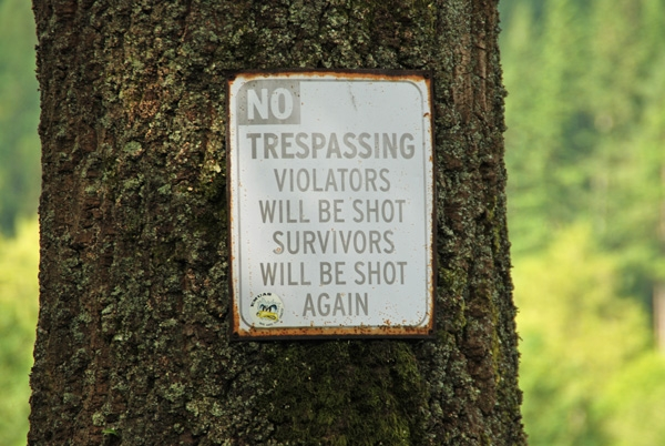 Violators will be shot