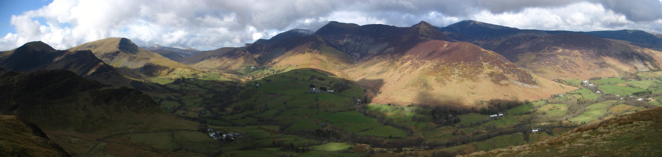Panoramic view of the north western fells.