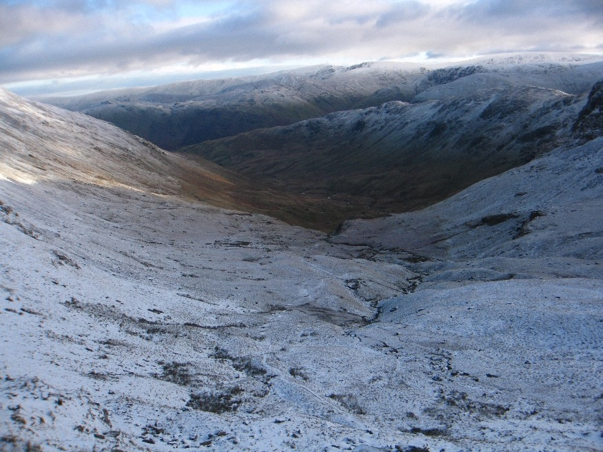 The view back down Deepdale
