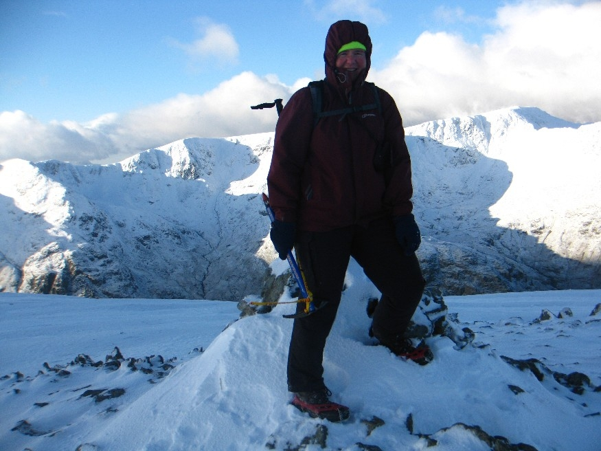 Jo and her ice axe!